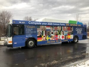 Featuring a bus wrap on Onondaga County public transport